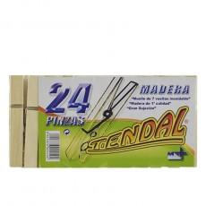 PINZAS MADERA TENDAL PAQUETES 2 DOCENAS