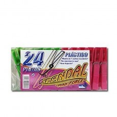 PINZAS PLASTICO TENDAL PAQUETES 2 DOCENA