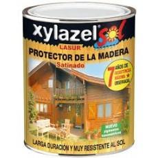 XYLAZEL LASUR SOL SATINADO CAOBA 750 ML.