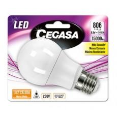 CEGASA LED STANDARD 8.8W E27 BL1 CALIDA