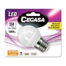 CEGASA LED ESFERICA 4.5W E27 BL1 CALIDA