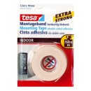 TESA CINTA DOBLE CARA ULTRAF.1,5MX19MM.