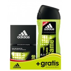 ADIDAS MEN PURE GAME EDT 50 ML + GEL 250