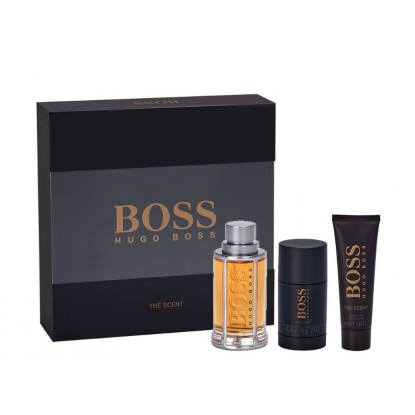 BOSS THE SCENT MAN EDT 100ML+DEO+GEL