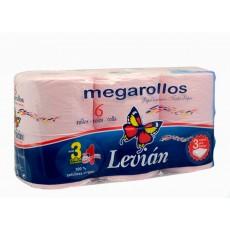 LEVIAN PAPEL ROSA 6 MEGAROLLOS