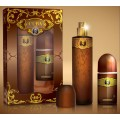 CUBA OR MEN EDT 100 ML + DEO ROLLON 50 ML