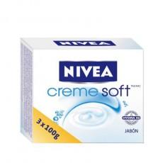 NIVEA JABON CREMOSO CREME SOFT 3 PT.100G