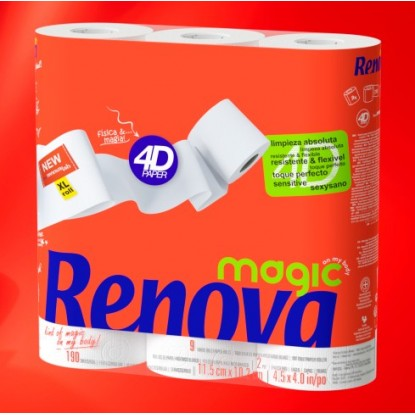 RENOVA PAPEL HIGIENICO MAGIC P-9