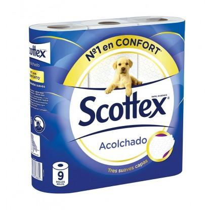 SCOTTEX PAPEL ACOLCHADO 9 ROLLOS