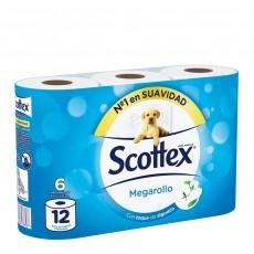 scottex papel 6 rollos mega