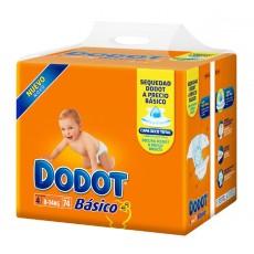 DODOT BASICO TALLA 4 74 UDS (9-15 KG.)