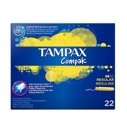 TAMPAX COMPAK REGULAR 22 UDS.