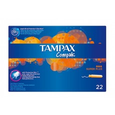 tampax compak super plus 22 uds