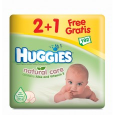 huggies natural care-2 mas 1 - 192-unidades