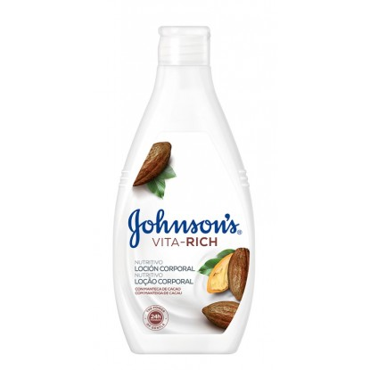 JOHNSON'S LOCION 400 ML. VITARICH CACAO