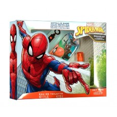 SPIDERMAN EDT 50 ML + LLAVERO + ESTUCHE + PULSERA