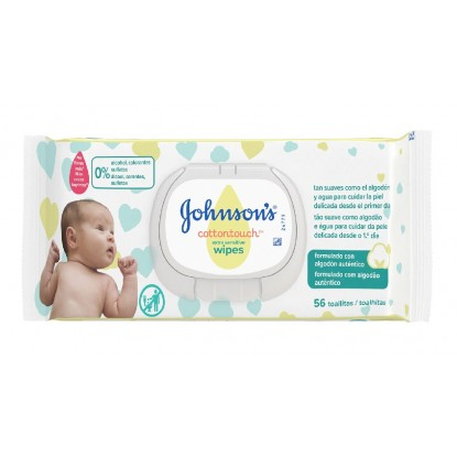JOHNSON'S TOALLITAS COTTON TOUCH REC.56 UDS