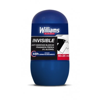 WILLIAMS DEO. ROLLON 50 + 25 ML INVISIBLE