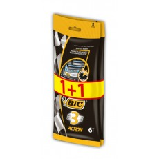 BIC MAQ. DESECHABLE ACTION-3 PROMO 1+1