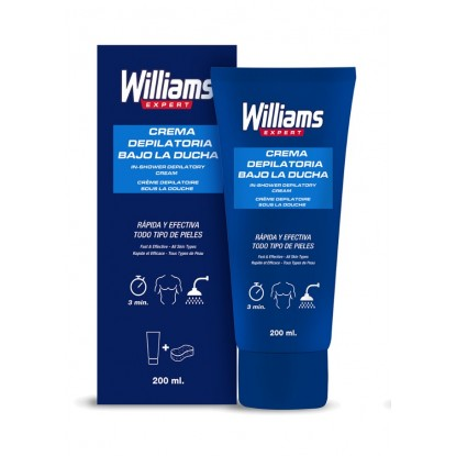 WILLIAMS CREMA DEPILATORIA 200 ML DUCHA