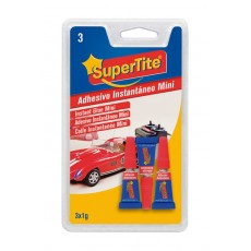 SUPERTITE ADHESIVO INSTANTANEO MINI 3 x 1 Gr
