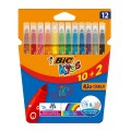 BIC ROTULADORES COLORES 12 UDS (LAVABLES)