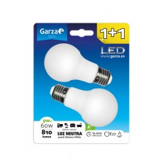 GARZA LED STANDARD 9W E27 NEUTRA 1 + 1