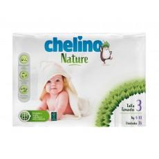 CHELINO PAÑALES NATURE T3 36 UDS (4-10K)