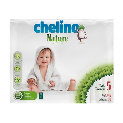 CHELINO PAÑALES NATURE T5 30 UDS (13-18K)
