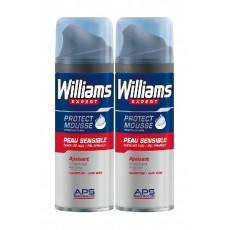 WILLIAMS ESPUMA AFEITADO P.SENSIBLES 2 X 200 ML