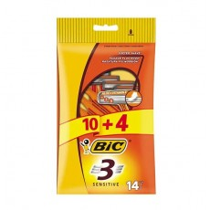 BIC MAQ. DESECHABLE SENSITIVE 10 + 4 UDS