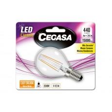 CEGASA LED CLASSIC ESFERA 4W E14 CALIDA
